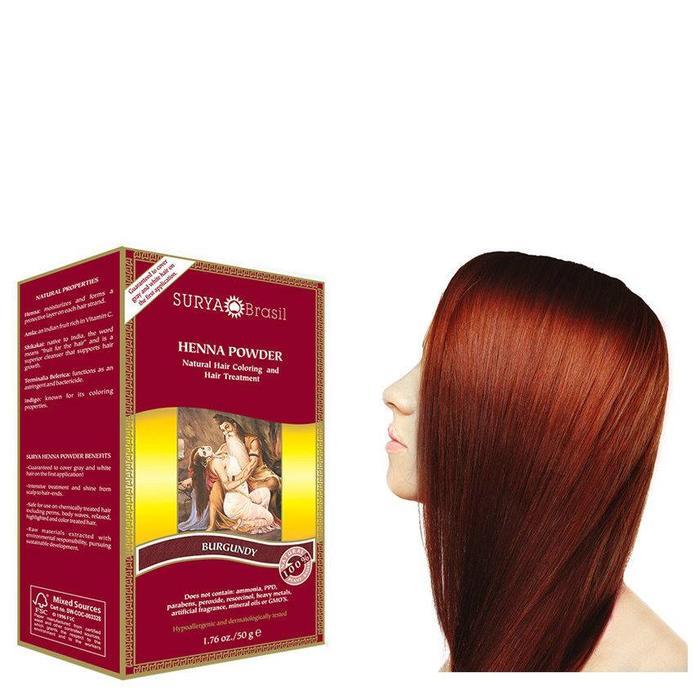 Surya Brasil Henna Haarverf Powder Burgundy 50g