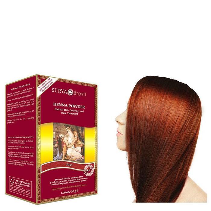 Surya Brasil Henna Haarverf Powder Red 50g