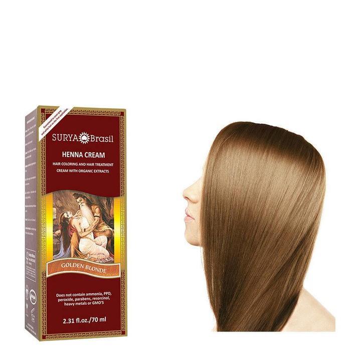 Surya Brasil Henna Haarverf Cream Golden Blonde 70ml