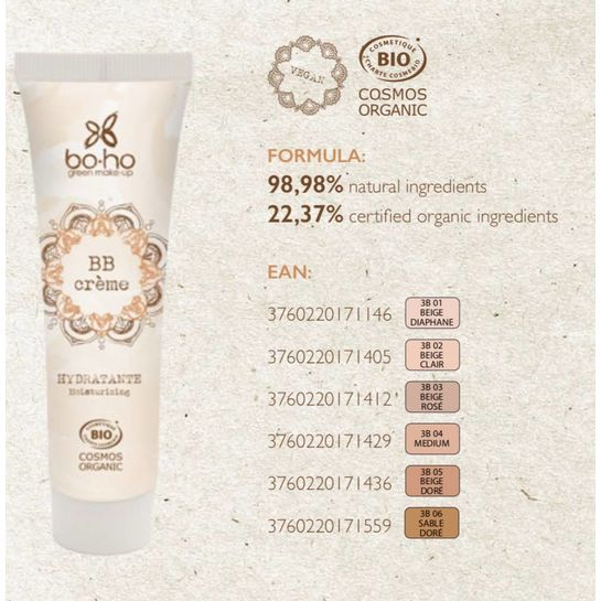 Boho Blemish Cream Balm Beige Diaphne 30ml