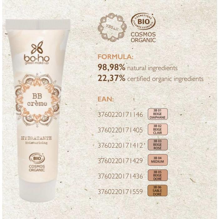 Boho Blemish Cream Balm Beige Clair 02