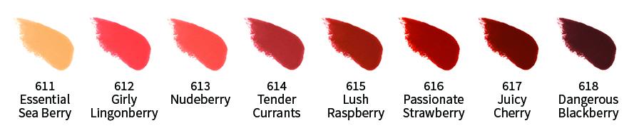 uoga natuurlijke lipstick swatch