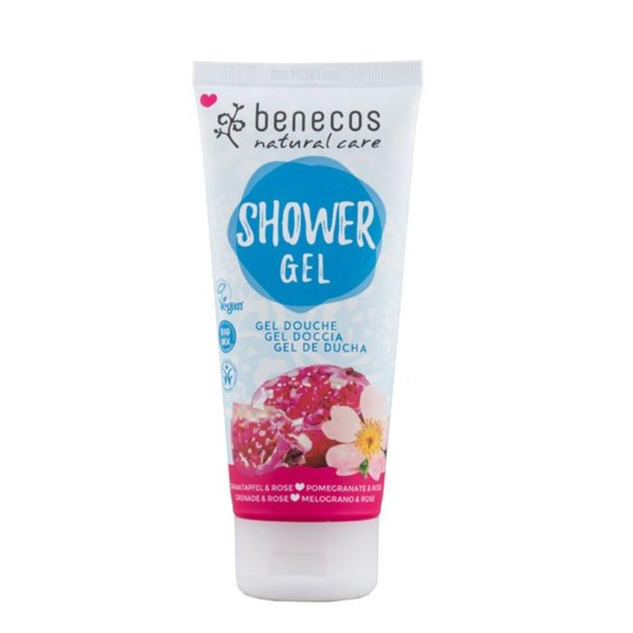 Benecos Natural Shower Gel Pomegranate - Rose