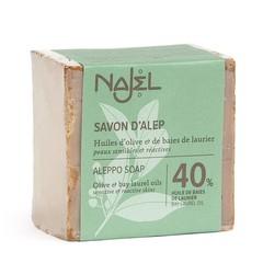 Aleppo Olijfzeep Najel Laurel 40%  200g