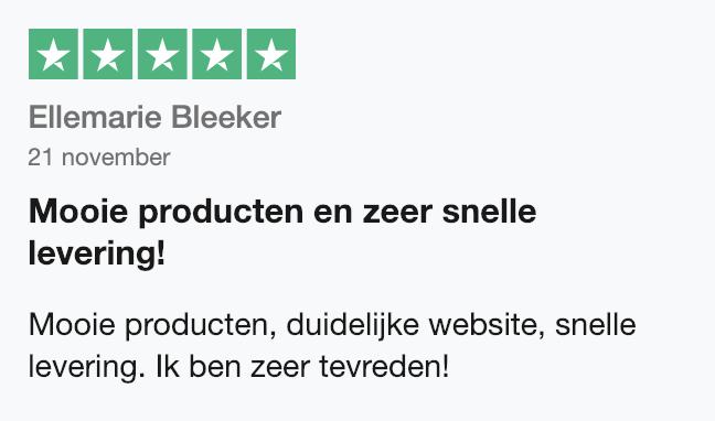 Trustpilot beoordeling SoloBioMooi.nl