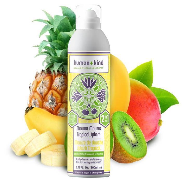 Human+Kind Shower Mousse Tropical Splash Vegan