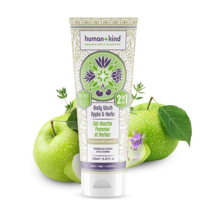 Human+Kind Bodywash Apple Herbs Vegan All-in-one 250ml
