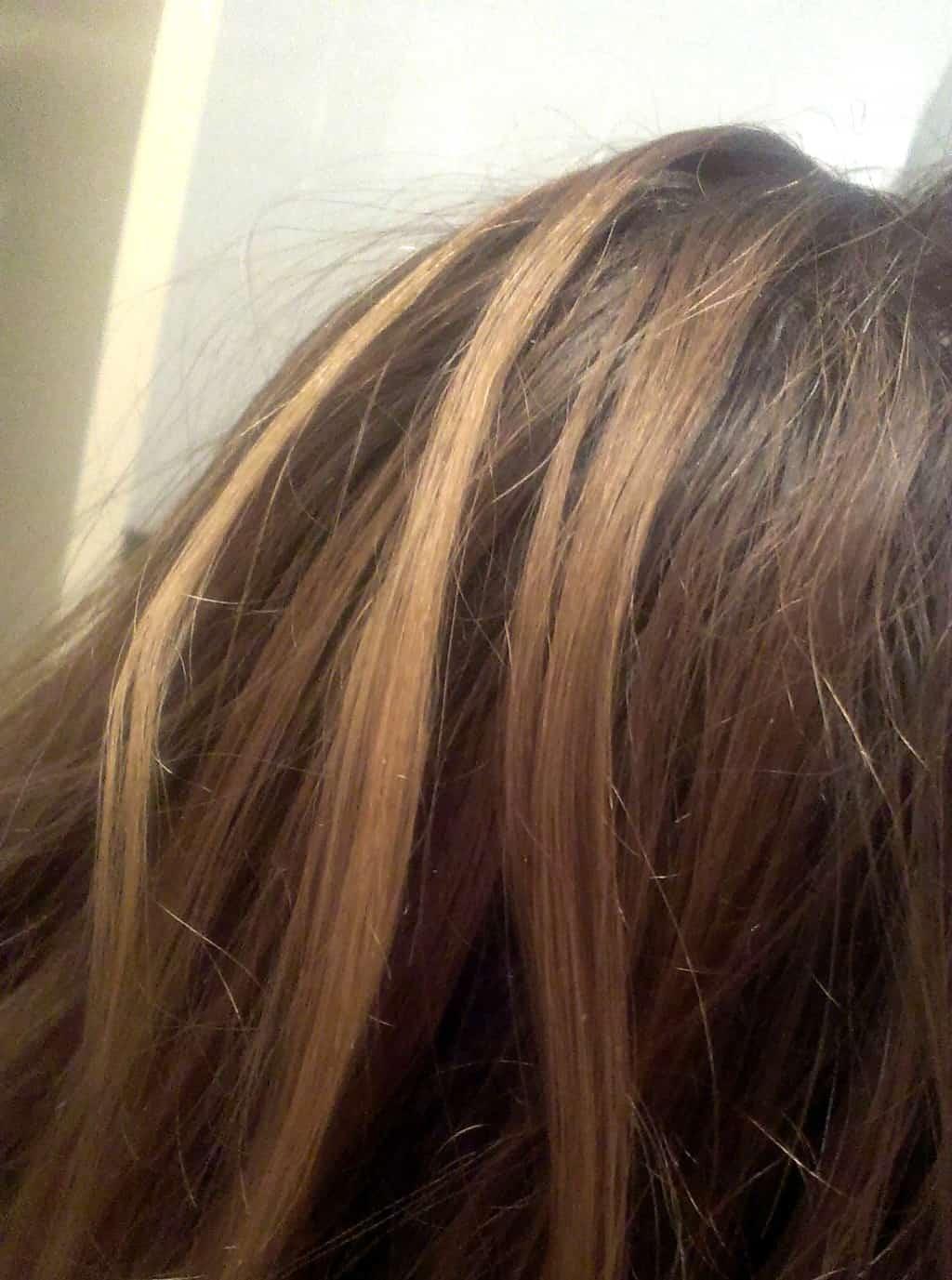 Voor de haarkleuring