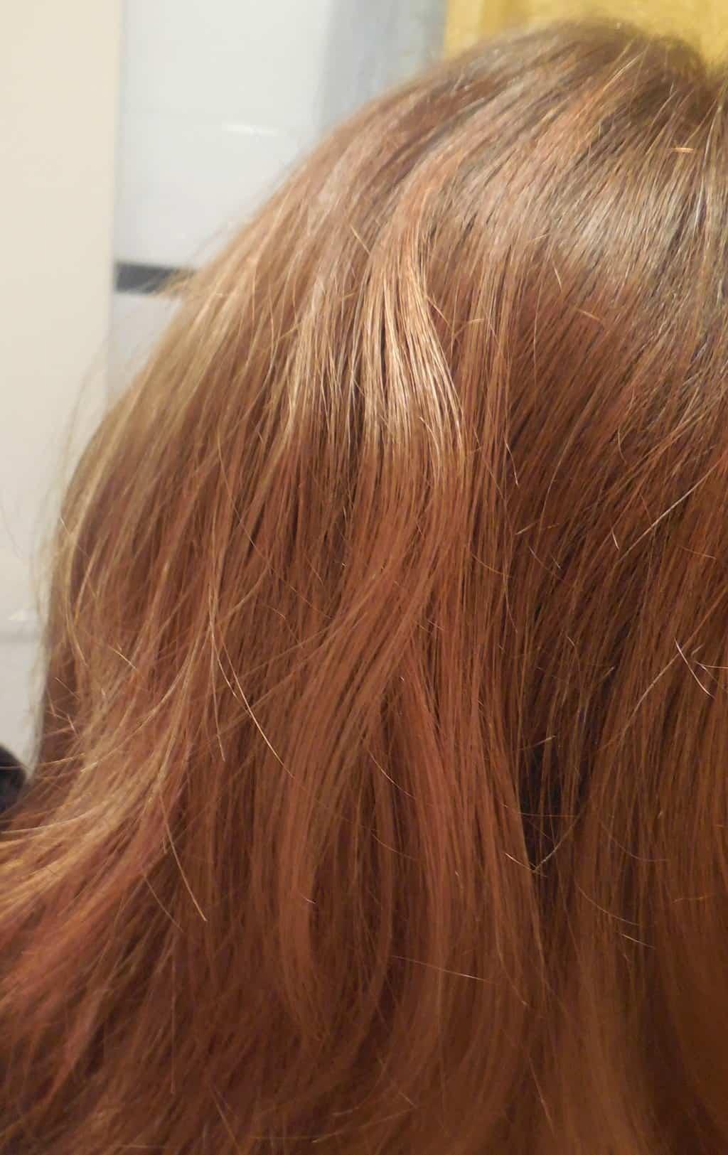 Na de henna haarkleuring
