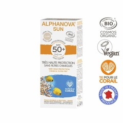 Alphanova SUN BIO SPF 50+ Face Tinted Cream LIGHT allergische gevoelige huid - waterproof