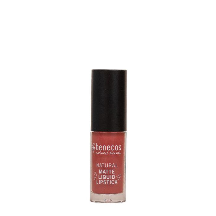 Benecos Lipstick Liquid Natural MAT Rosewood Romance