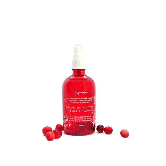 Uoga Uoga Conditioning Spray Vegan  met hyaluron en cranberry