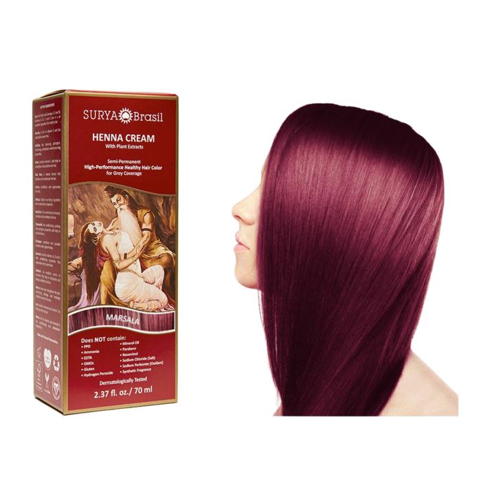 Surya Brasil Henna Haarverf Cream Marsala 70ml