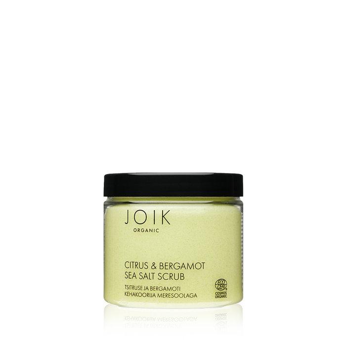 JOIK Organic Vegan Citrus & Bergamot Sea Salt Scrub 240gr