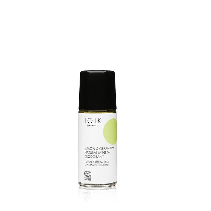 JOIK Organic Vegan Lemon & Geranium Natural Mineral Deodorant 50ml