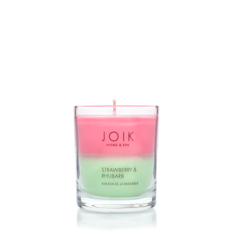 JOIK Vegan Soywax scented candle Strawberry & rhubarb 145 gr.