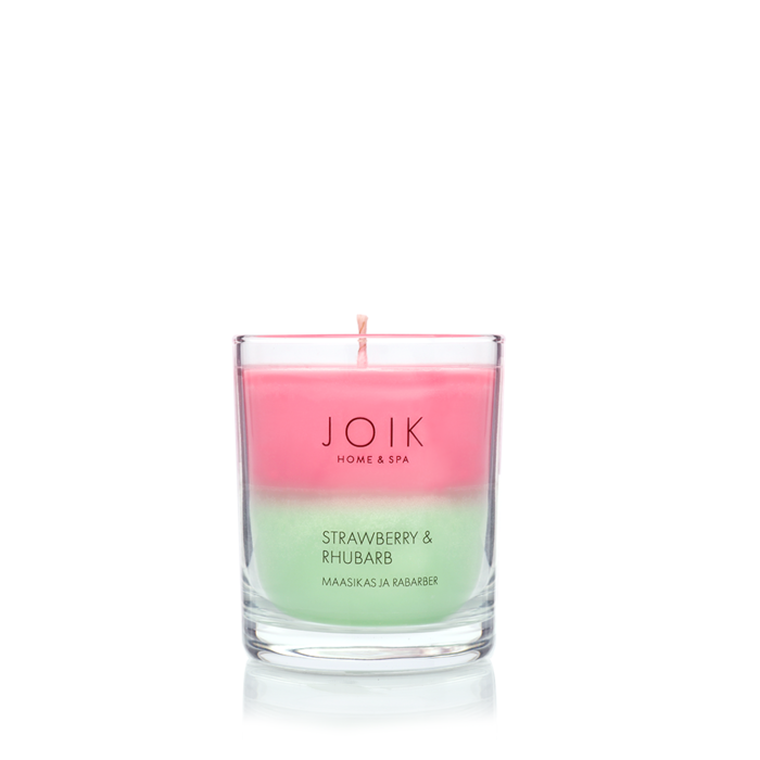 JOIK Vegan soywax scented candle Strawberry & rhubarb, 145 gr.