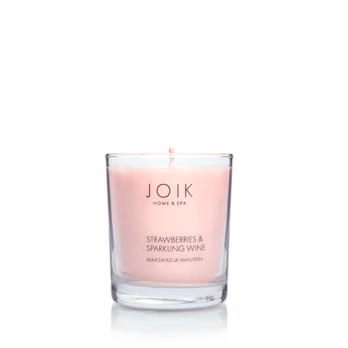 JOIK Vegan soywax scented candle Strawberries & wine, 145 gr.