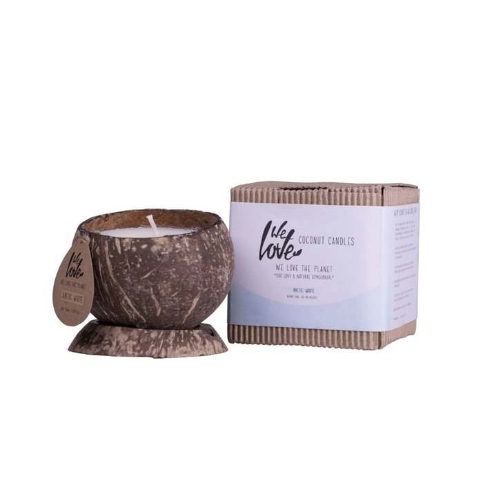 We Love the Planet Vegan Coconut soy wax candle Arctic White