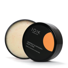 JOIK Vegan Grapefruit and Mandarin white sugar bodyscrub 210 gr.