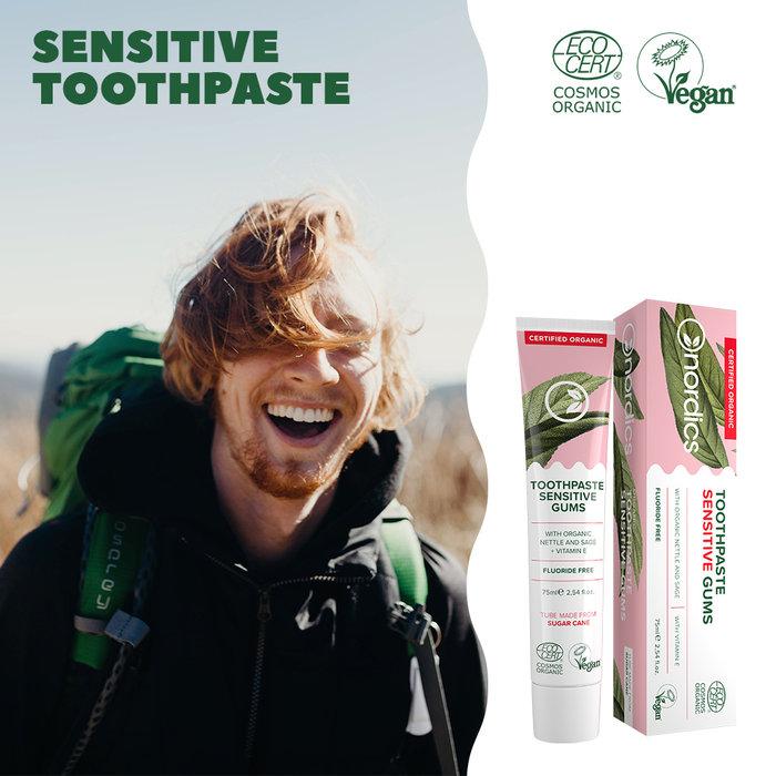 Nordics Vegan Tandpasta Sensitive Gums BIO