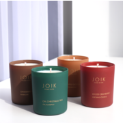 JOIK Vegan soywax scented candle Oh, Christmas tree, 145gr. in groen glas