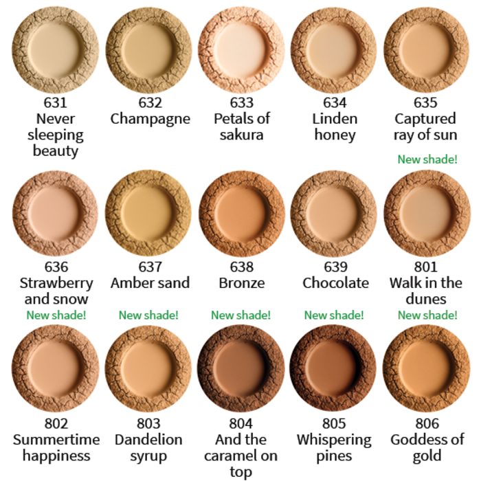 UOGA UOGA Foundation Powder 8g Linden honey 634 SPF15