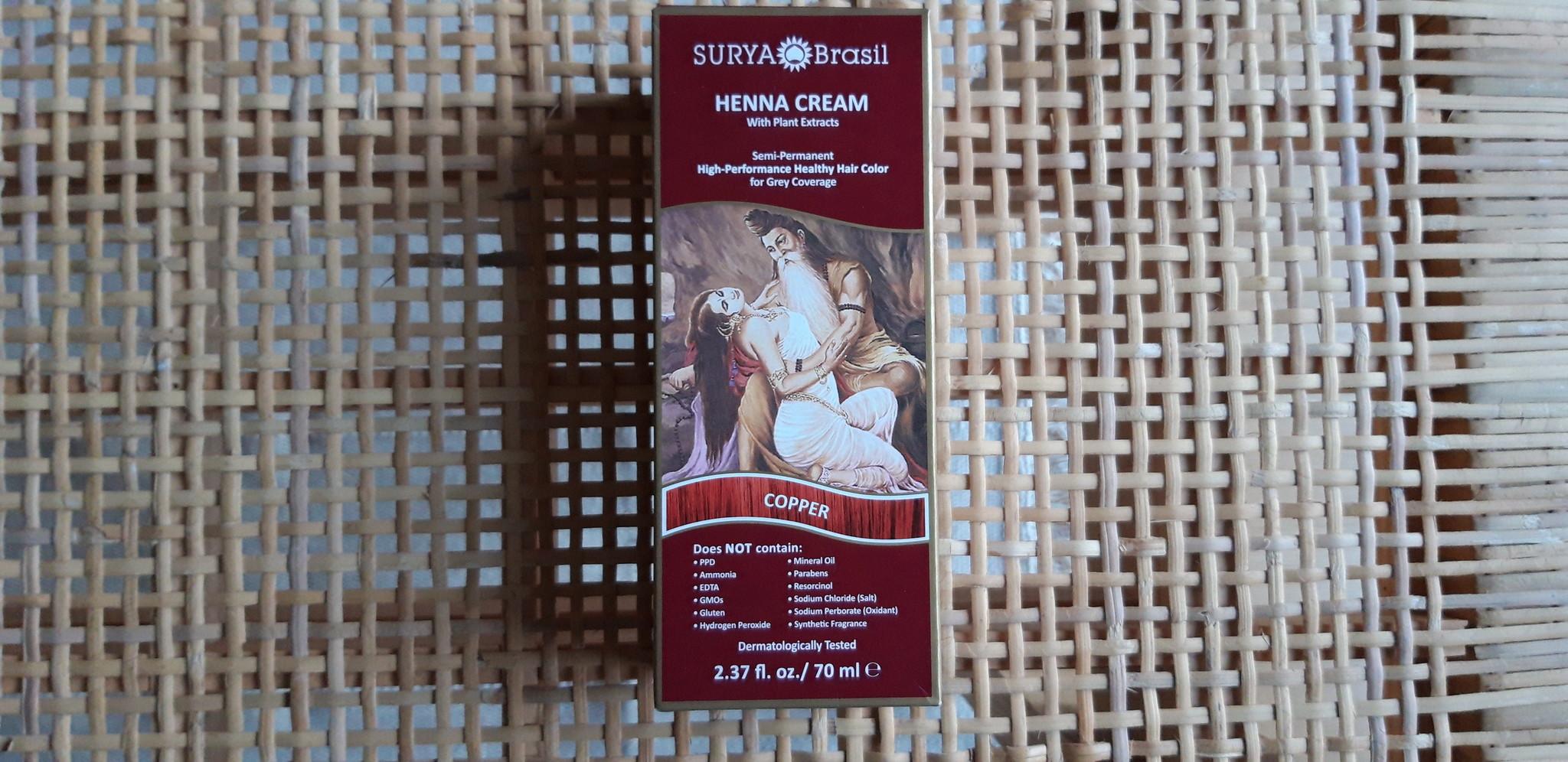 Review Surya Brasil Henna Cream natuurlijke haarverf