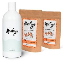 Marley's Amsterdam Shampoo-pakket - 2x Eucalyptus & Groene klei  + herbruikbare fles