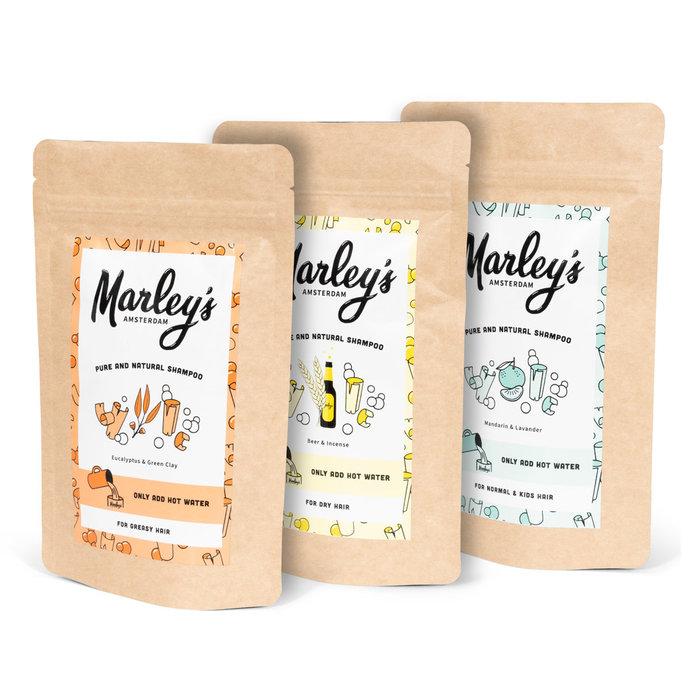 Marley's Shampoo-pakket - 2x Mandarijn & Lavandin  + herbruikbare fles