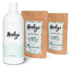 Marley's Amsterdam Shampoo-pakket - 2x Mandarijn & Lavandin  + herbruikbare fles