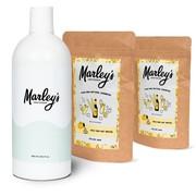 Marley's Shampoo-pakket - 2x Bier & Wierook  + herbruikbare fles