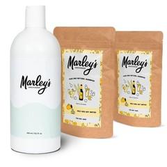 Marley's Amsterdam Shampoo-pakket - 2x Bier & Wierook  + herbruikbare fles