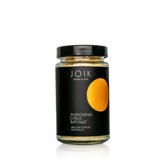 JOIK Vegan Uplifting bath salt with orange, lemon and grapefruit oils, 450gr. glazen pot