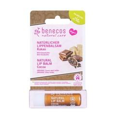 Benecos Natural Vegan Lipbalm Cocoa 4,8g in kartonnen verpakking