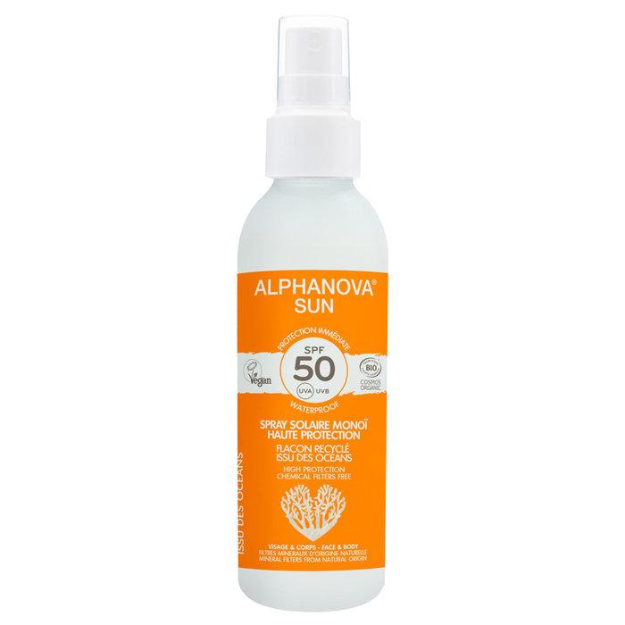 ALPHANOVA SUN BIO SPF 50 SPRAY ADULTS 125gr duurzame verpakking