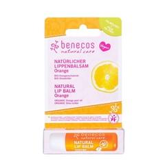 Benecos Natural Vegan Lipbalm Orange 4,8g in kartonnen verpakking