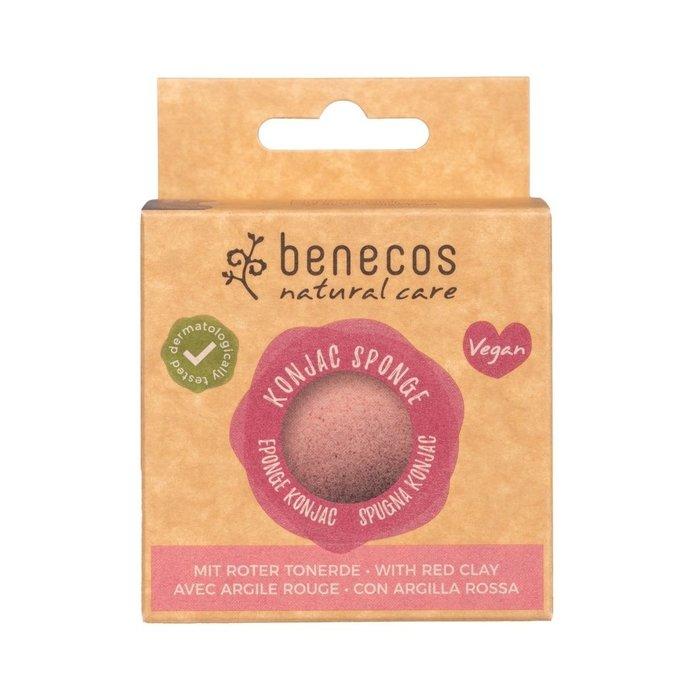 Benecos Natural Konjac Sponge - red clay