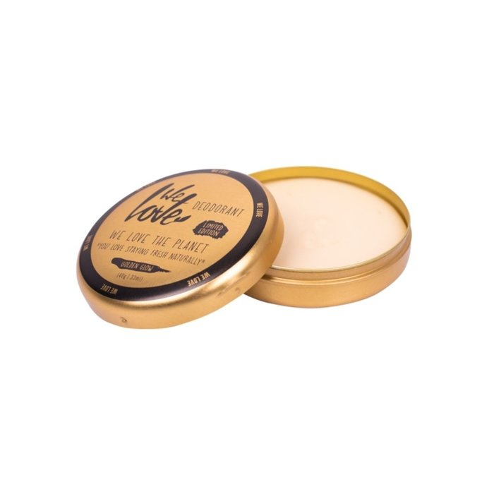 We Love The Planet Natuurlijke Deodorant Creme Golden Glow VEGAN 48gr
