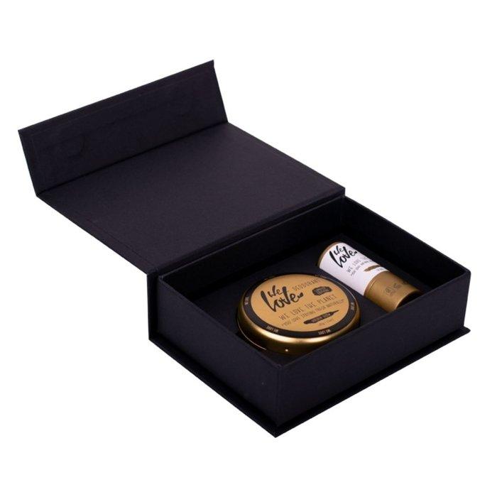 We Love The Planet Golden Giftset met Deodorant Creme Golden Glow 48gr + lippenbalsem 5gr
