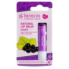 Benecos Natural Vegan Lipbalm Cassis 4,8g in kartonnen verpakking
