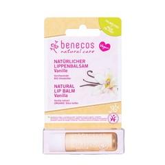 Benecos Natural Vegan Lipbalm Vanilla 4,8g in kartonnen verpakking