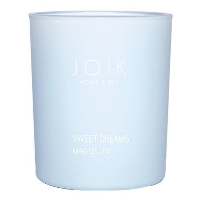 JOIK Vegan geurkaars Sweet Dreams van koolzaadwas, 150 gr. in gekleurd glas