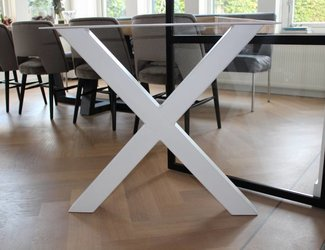 X- tafelpoot 80x80 Wit