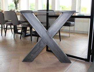 X- tafelpoot 120x120 Natural