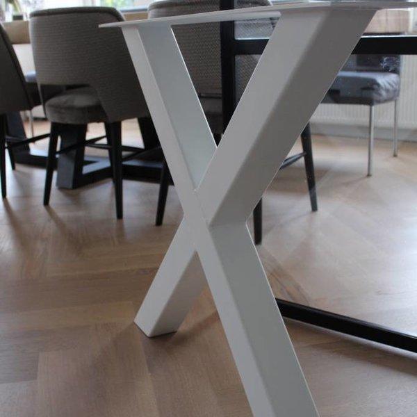 Tafelpoot X-LEG 80x80 Wit