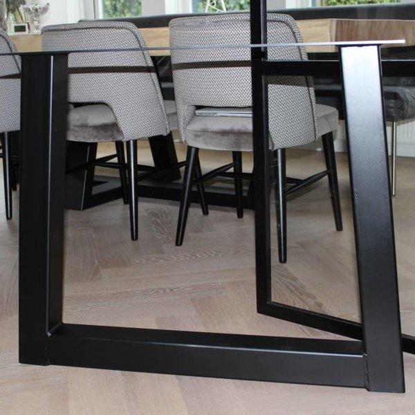 Tafelpoot Trapezium 80x80 zwart