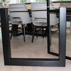 Tafelpoot U-LEG 80x80 zwart