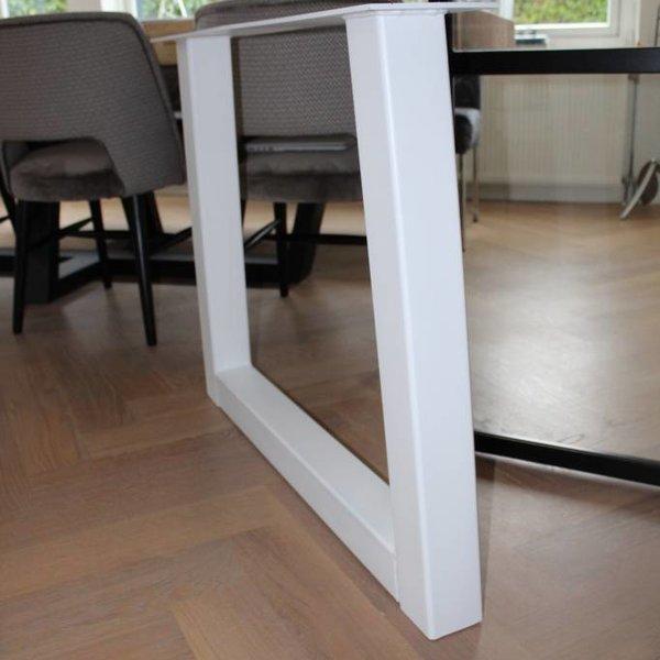 Tafelpoot Trapezium 80x80 wit