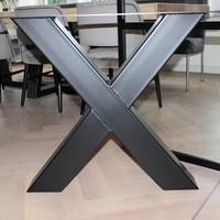 Tafelpoot X-LEG 120x120 zwart